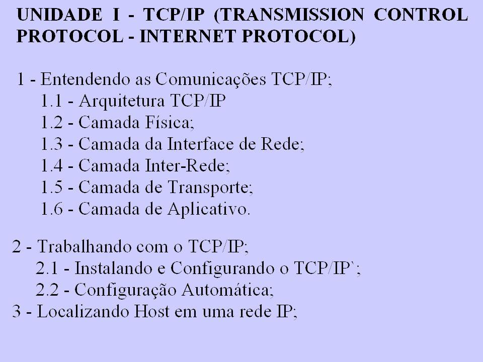 A Camada de Aplicativo A Camada 7, a mais alta no modelo OSI é a camada de Aplicativo.É responsável por interagir com o aplicativo do usuário; ela aceita os dados do aplicativo a partir do aplicativo de software e fornece o serviço de aplicativo de rede que é responsável pela solicitação do usuário.Alguns exemplos de transformação de dados na camada de Aplicativo incluem o seguinte: Simple Mail Transfer Protocol (SMTP)Envio de um e-mail, a camada de aplicativo, fornecerá acesso ao serviço do Simple Mail Transfer Protocol (SMTP) File Transfer Protocol (FTP).Uma transferência de arquivos pode ser realizada utilizando o File Transfer Protocol (FTP).