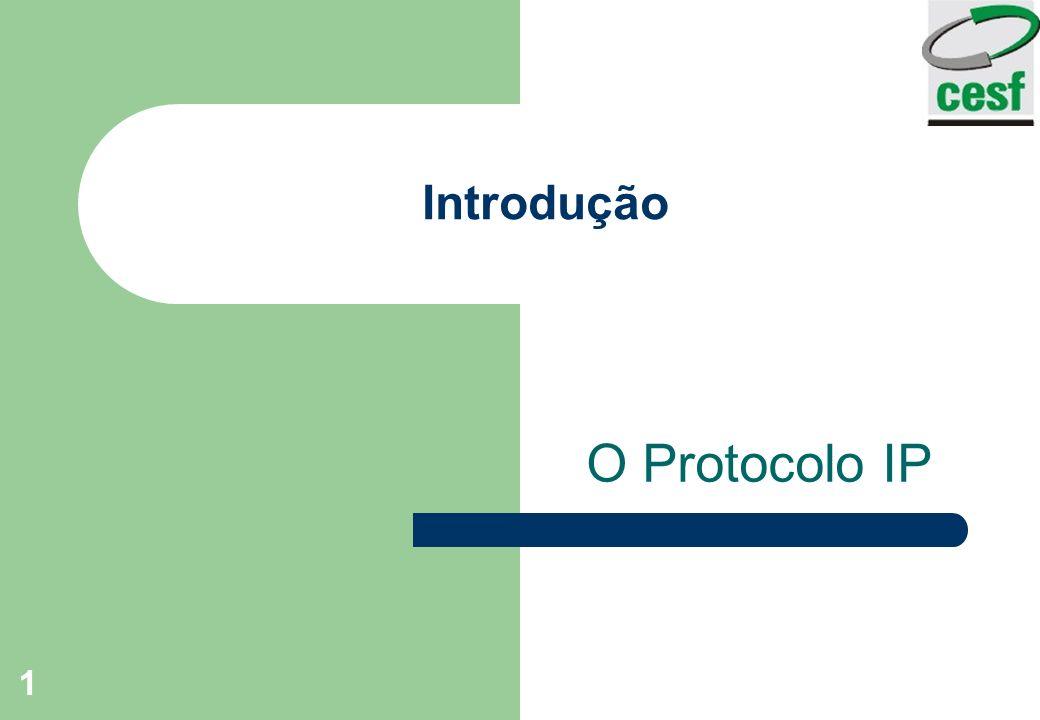 1 Introdução O Protocolo IP