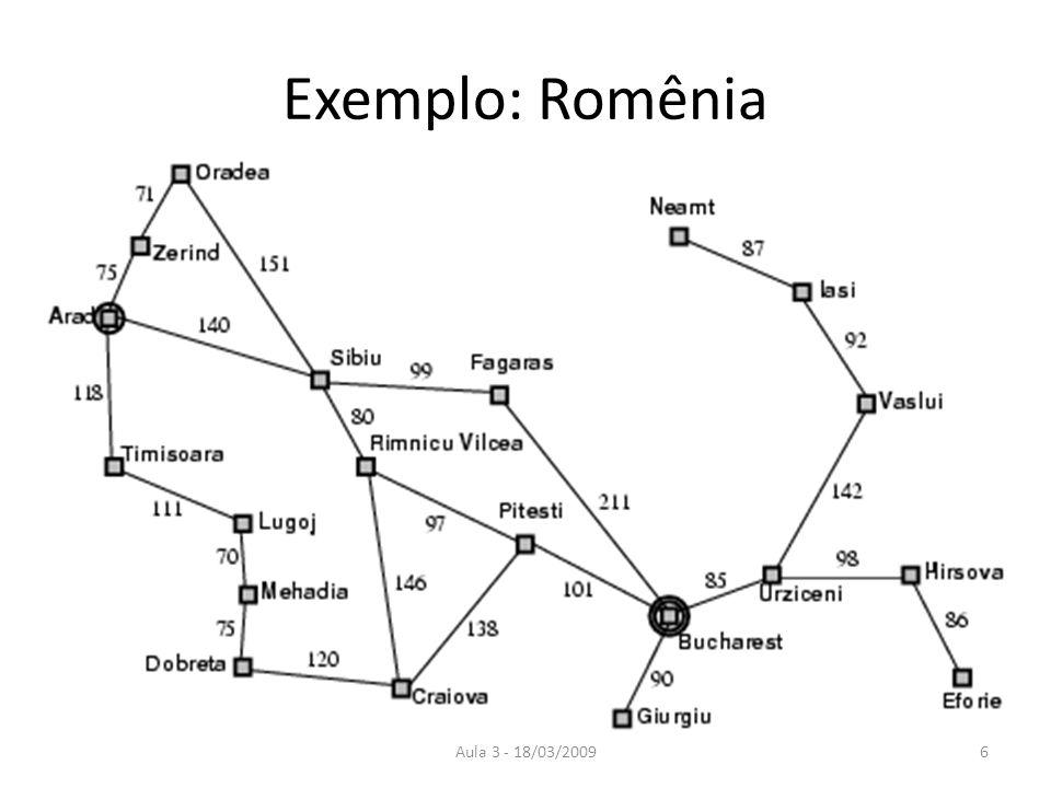 Aula 3 - 18/03/20096 Exemplo: Romênia