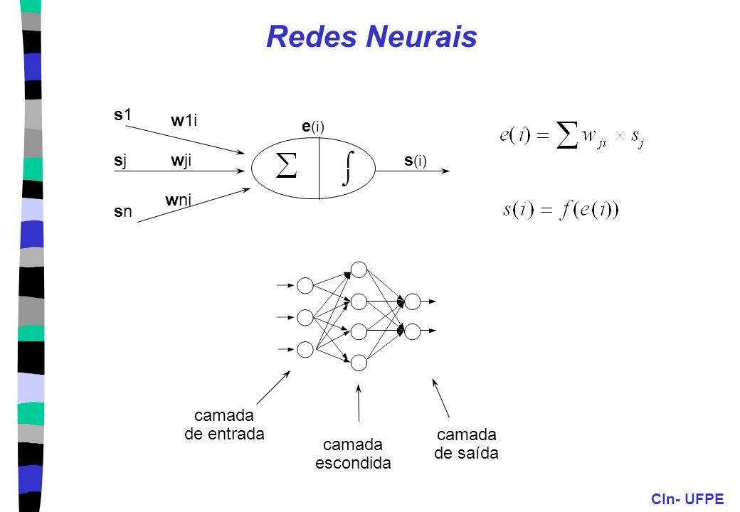 CIn- UFPE 14 Paradigma Conexionista Redes Neurais Definição Romântica: Técnica inspirada no funcionamento do cérebro, onde neurônios artificiais, cone