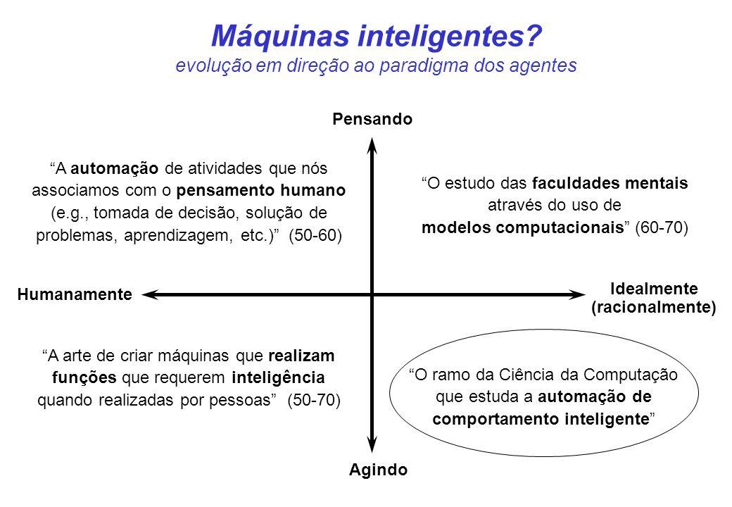 CIn- UFPE 25 Computação convencional x IA: classes de problemas Solução matemática (NÃO), conhecimento (SIM) => IA simbólica Modelo do problema (NÃO), exemplos de solução (SIM) => IA (aprendizagem) Autonomia, adaptabilidade, interoperabilidade,...