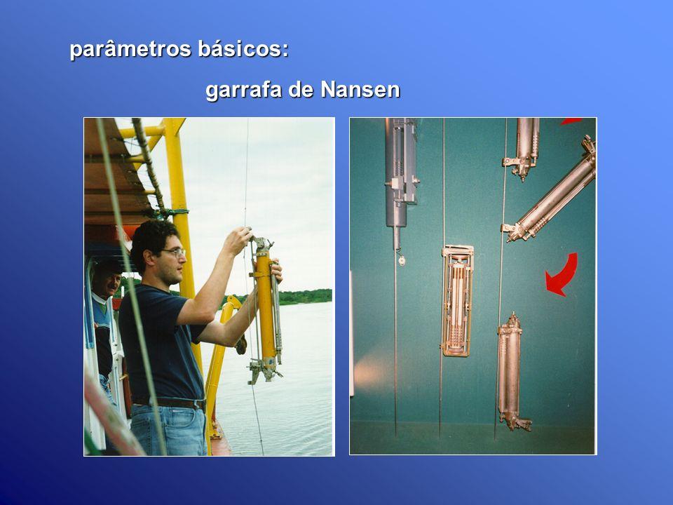 parâmetros básicos: parâmetros básicos: garrafa de Nansen garrafa de Nansen