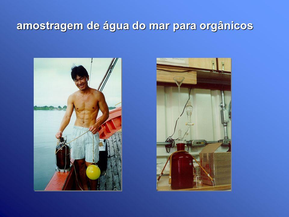 amostragem de água do mar para orgânicos