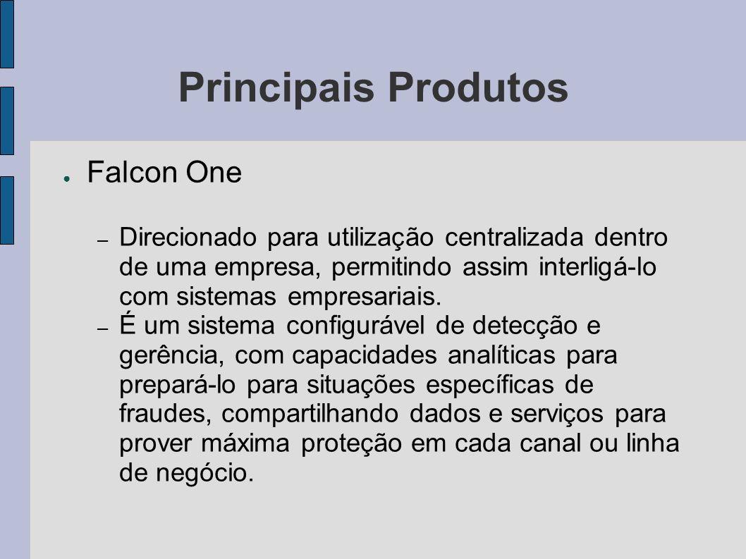 Principais Produtos Falcon One – Direcionado para utilização centralizada dentro de uma empresa, permitindo assim interligá-lo com sistemas empresaria