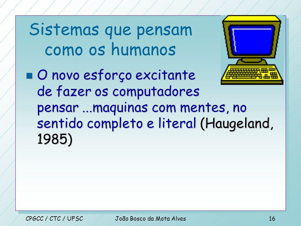 CPGCC / CTC / UFSCJoão Bosco da Mota Alves15 Dimensões de IA