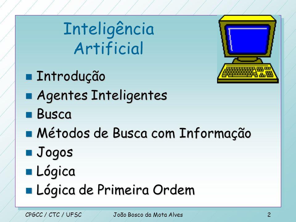 Inteligência Artificial João Bosco da Mota Alves CPGCC/UFSCOutubro/2000