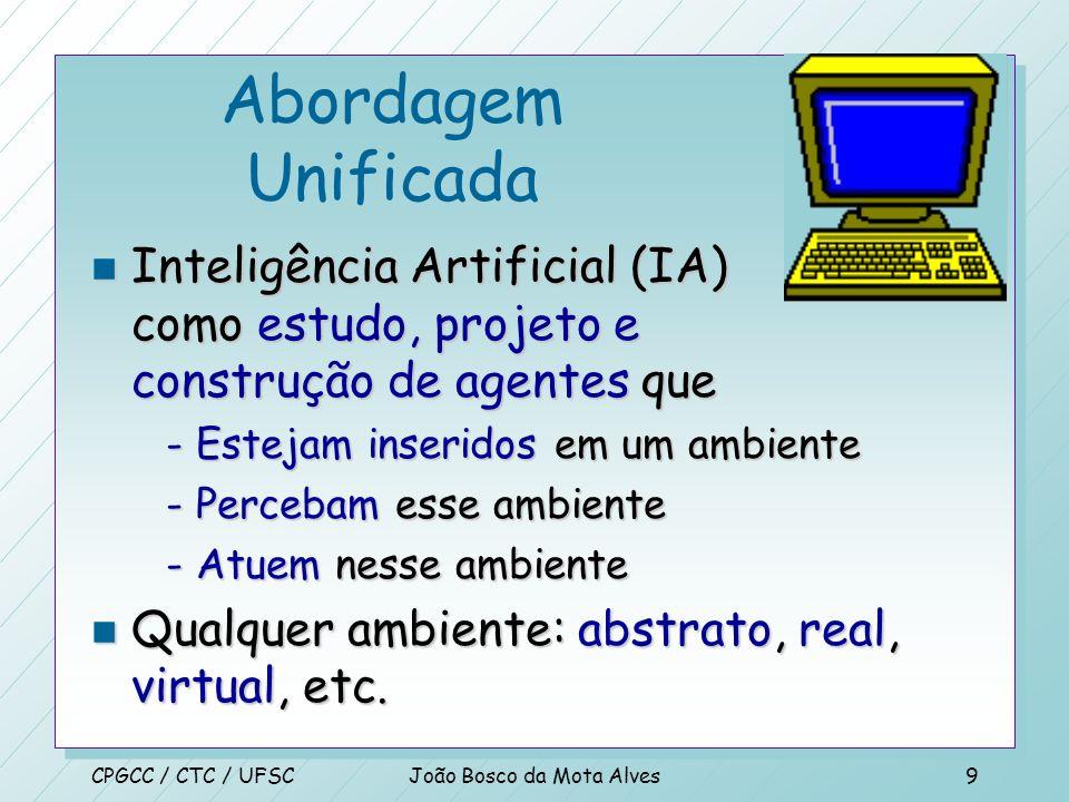 CPGCC / CTC / UFSCJoão Bosco da Mota Alves8 n KVITCA, A. M. Resolucion de Problemas con Inteligencia Artificial, EBAI ed.1988 n BARR, A., COHEN, A. e