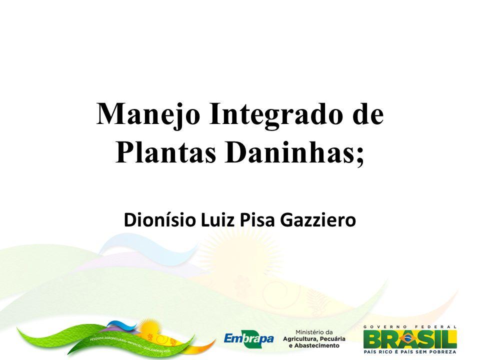 Manejo Integrado de Plantas Daninhas; Dionísio Luiz Pisa Gazziero