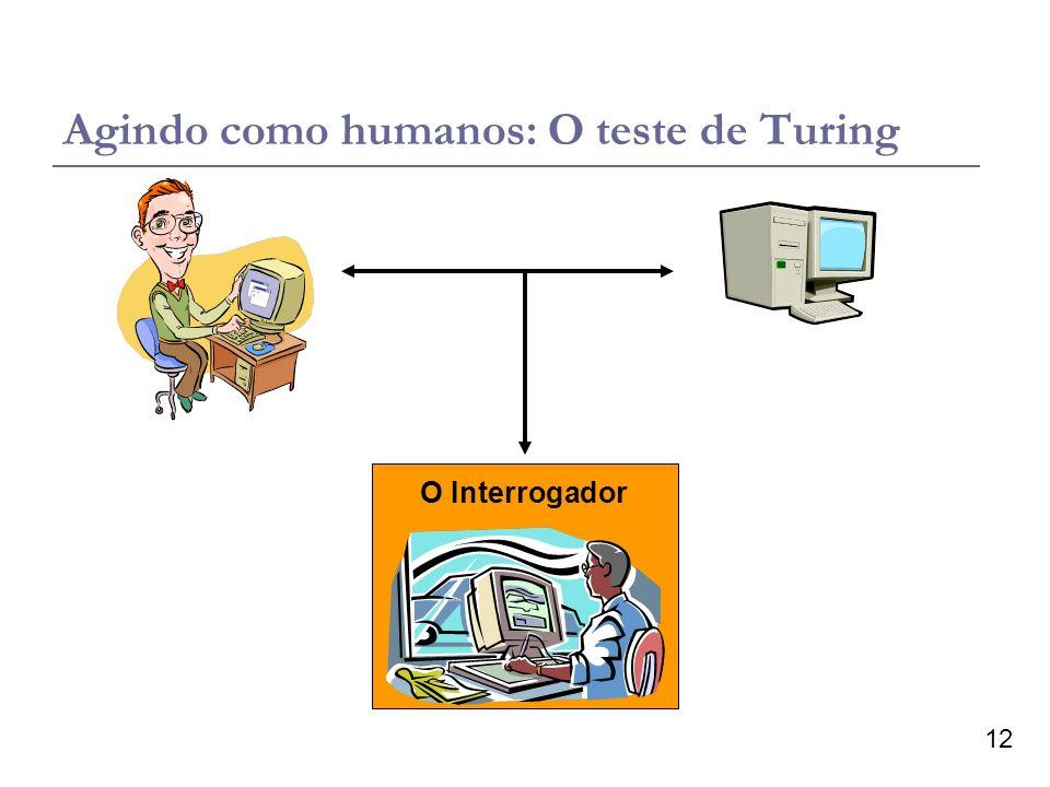 12 O Interrogador Agindo como humanos: O teste de Turing