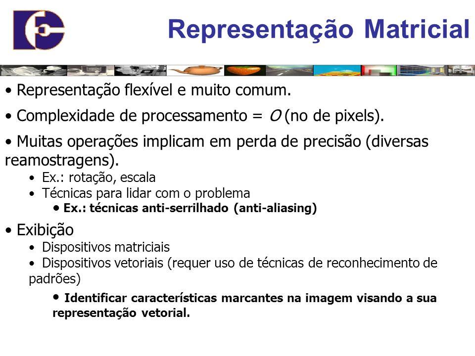 Representação Matricial Representação flexível e muito comum.