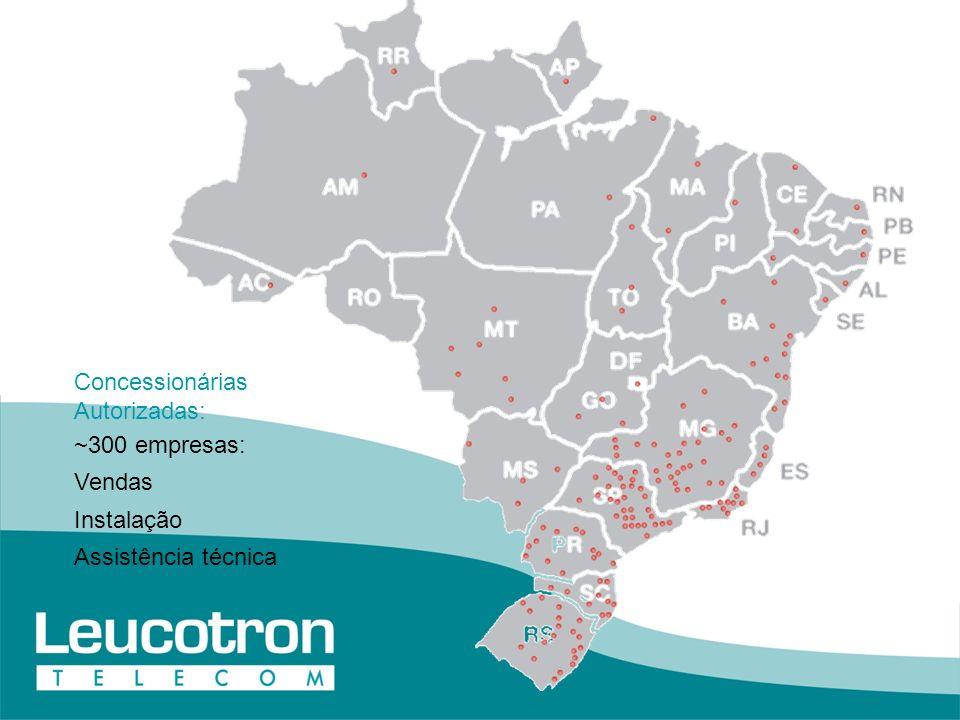 Concessionárias Autorizadas: ~300 empresas: Vendas Instalação Assistência técnica