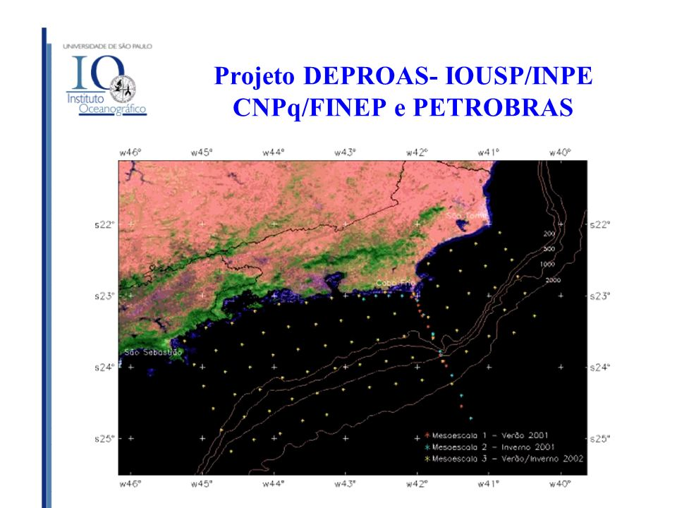 Projeto DEPROAS- IOUSP/INPE CNPq/FINEP e PETROBRAS