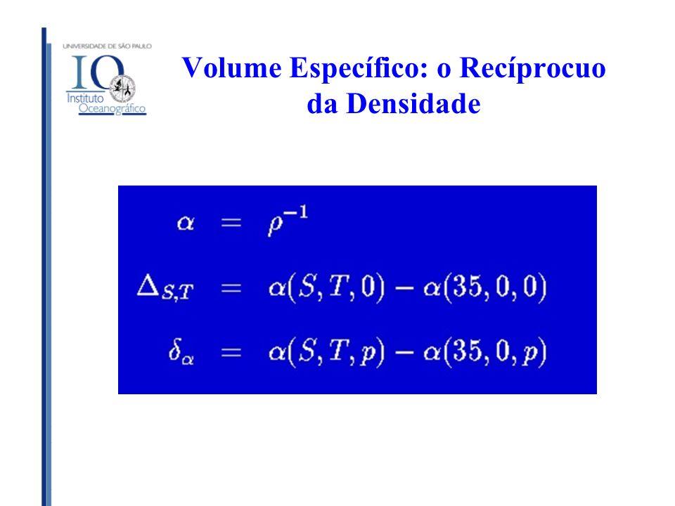 Volume Específico: o Recíprocuo da Densidade