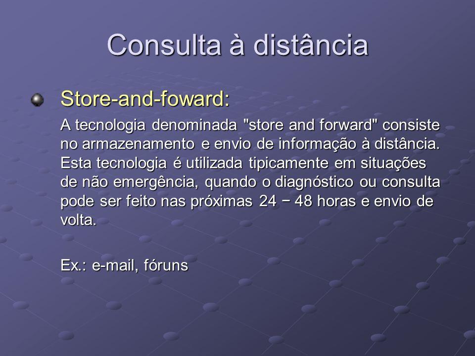 Consulta à distância Store-and-foward: A tecnologia denominada