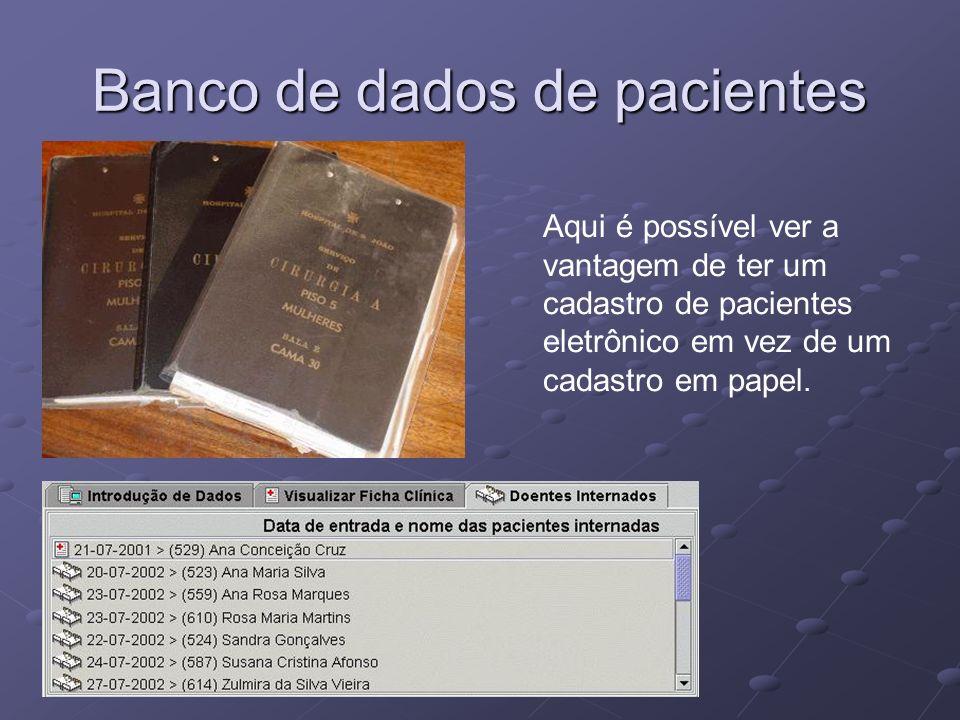 Prontuário Eletrônico - Possíveis Funções Prescrição médica via terminal.
