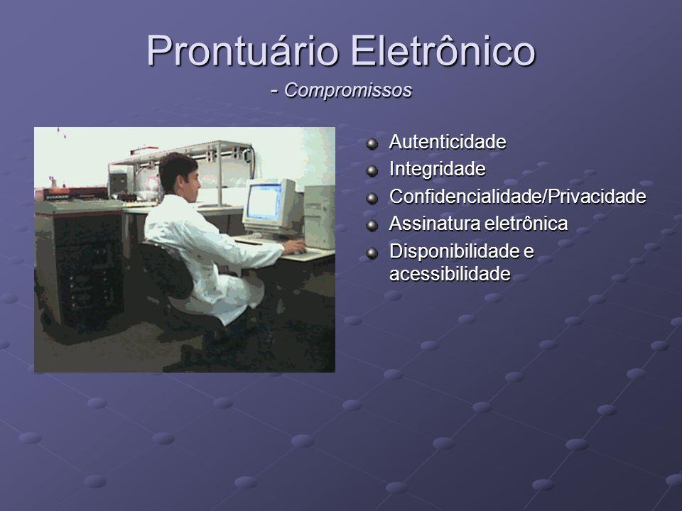 Telemedicina Consiste na transferência de informações médicas através de correio eletrônico, telefone, videoconferência,satélite, etc.
