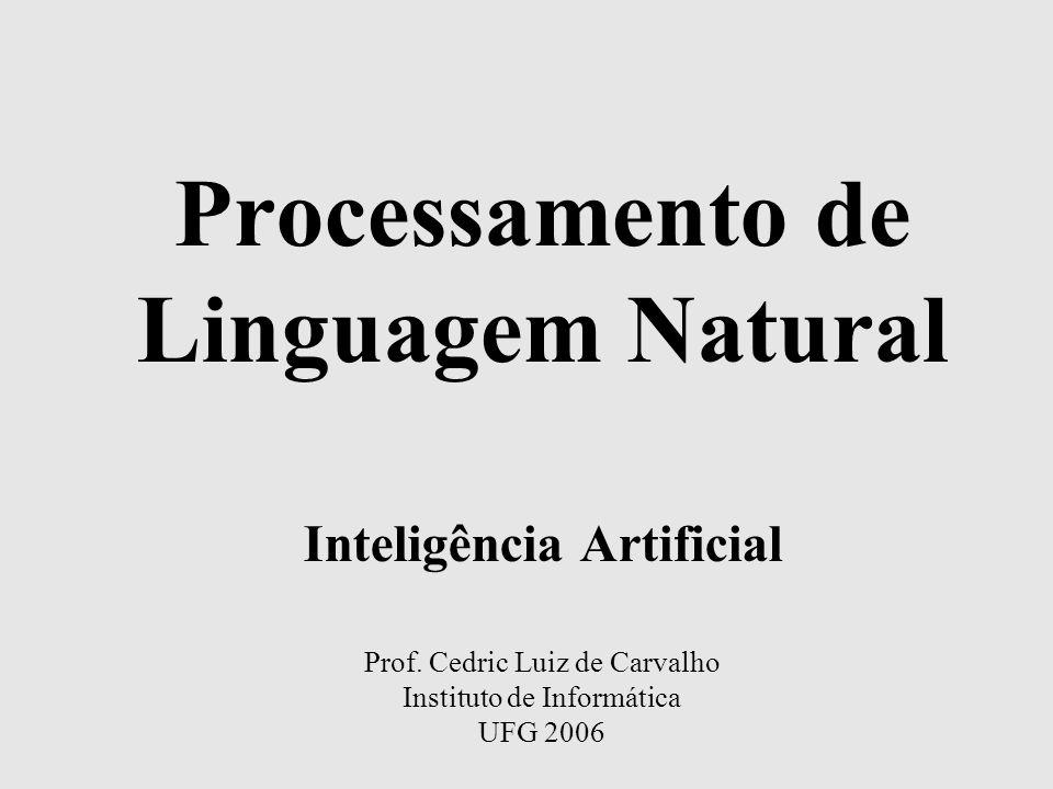 Processamento de Linguagem Natural Inteligência Artificial Prof.