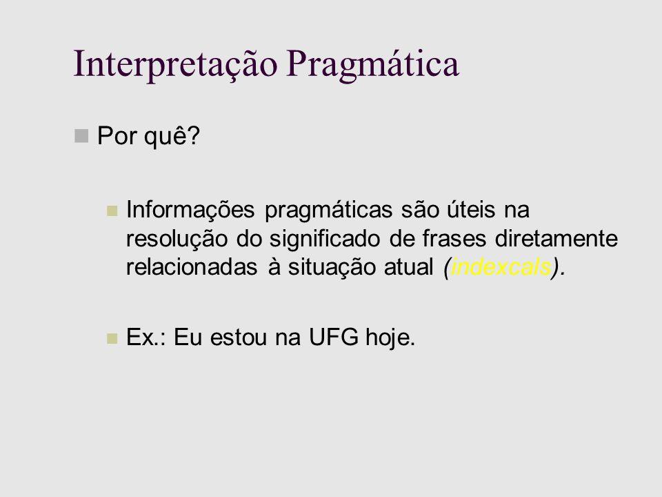 Interpretação Pragmática Por quê.