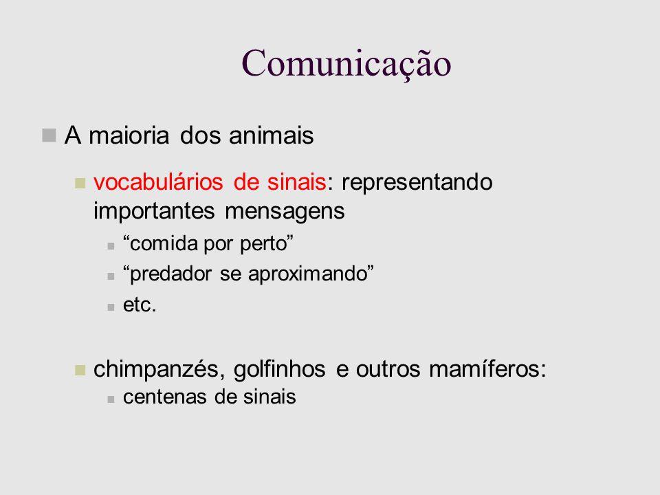 Eliminação de Ambigüidades Modelo acústico: A probabilidade de que uma seqüência particular de sons seja gerada, dado que quem fala escolheu uma dada cadeia de palavras.