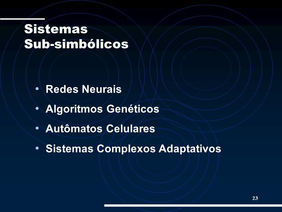 23 Redes Neurais Algoritmos Genéticos Autômatos Celulares Sistemas Complexos Adaptativos Redes Neurais Algoritmos Genéticos Autômatos Celulares Sistem