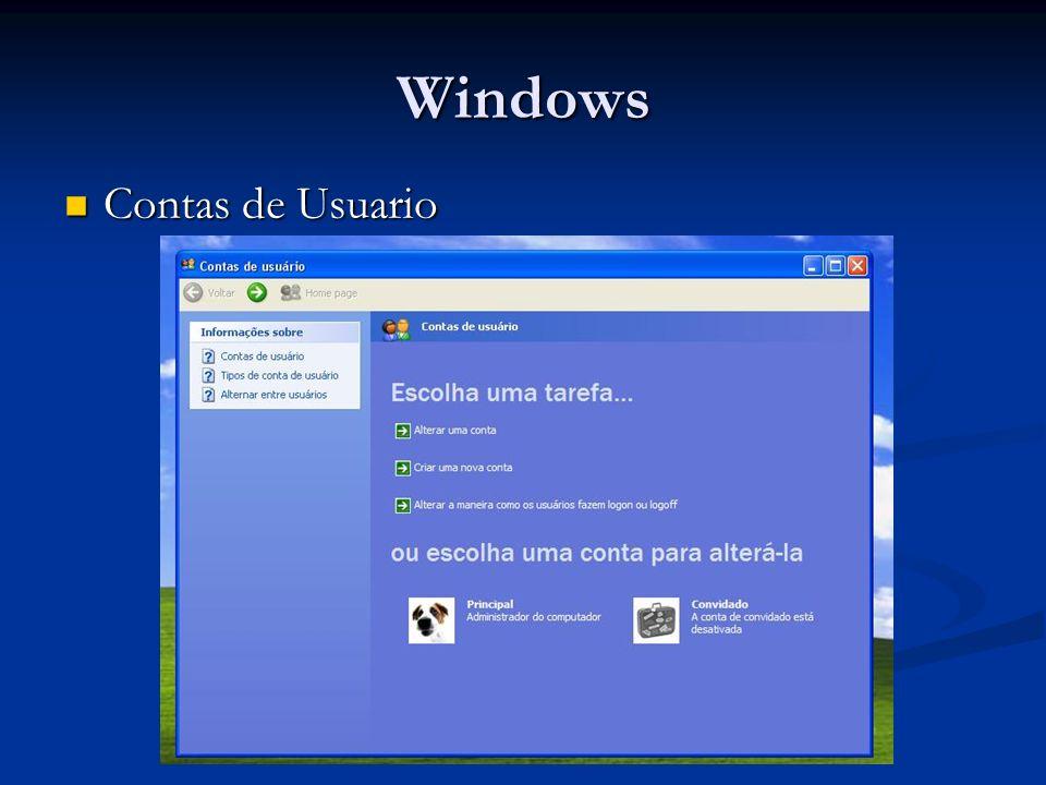 Windows Contas de Usuario Contas de Usuario