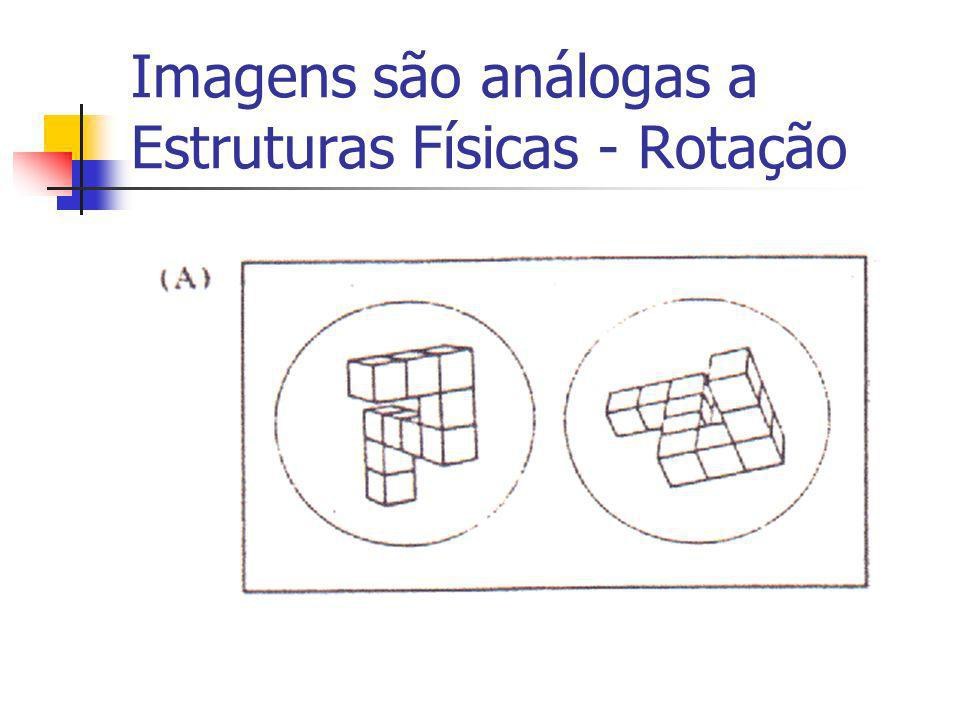 Imagens são análogas a Estruturas Físicas - Rotação