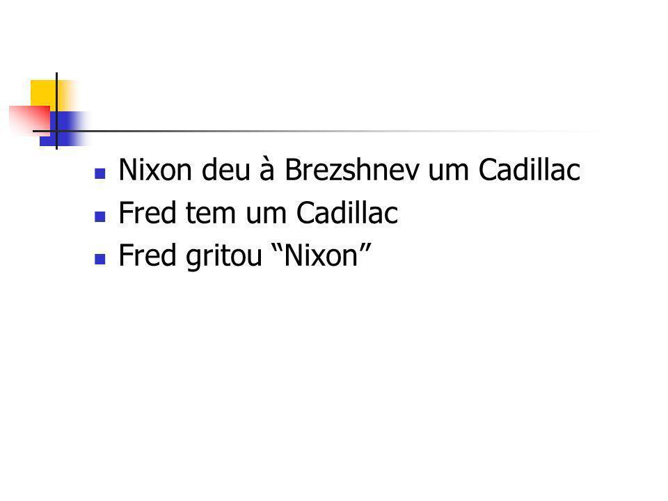 Nixon deu à Brezshnev um Cadillac Fred tem um Cadillac Fred gritou Nixon