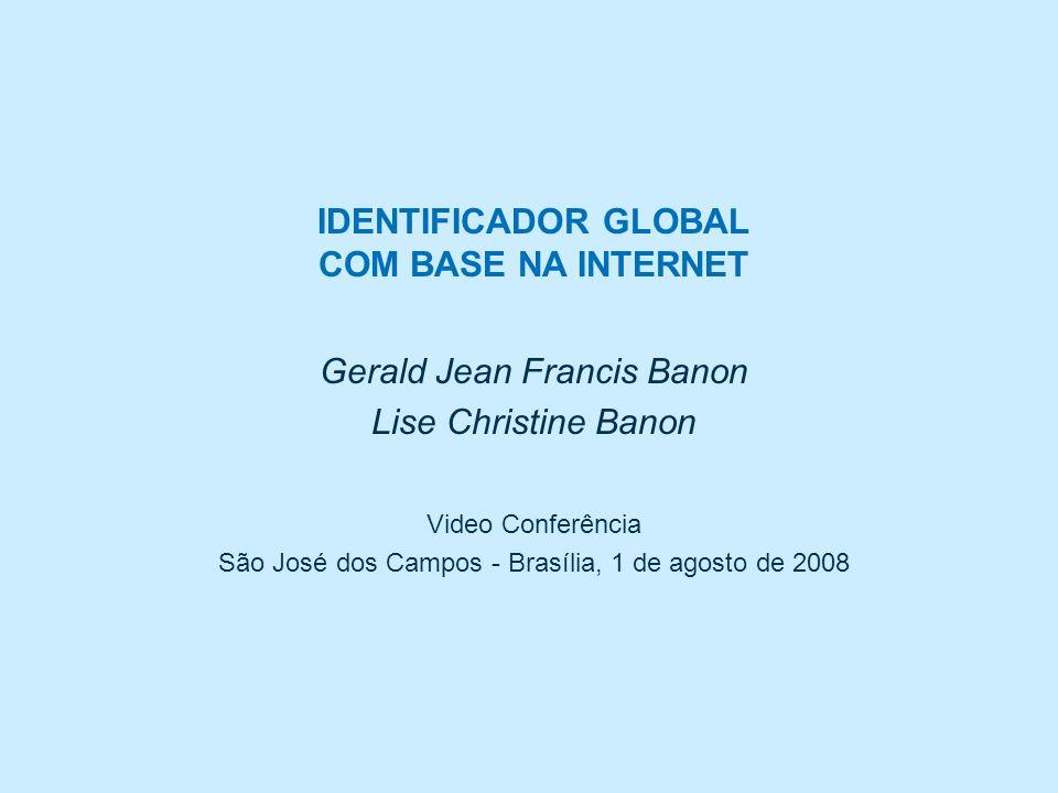 Identificador global com base na Internet VC Banon & Banon, 2008 Protocolo de comunicação com o resolvedor urlib.net (5/5) Mais detalhes sobre o protocolo: http://urlib.net/iconet.com.br/banon/2008/05.16.17.13