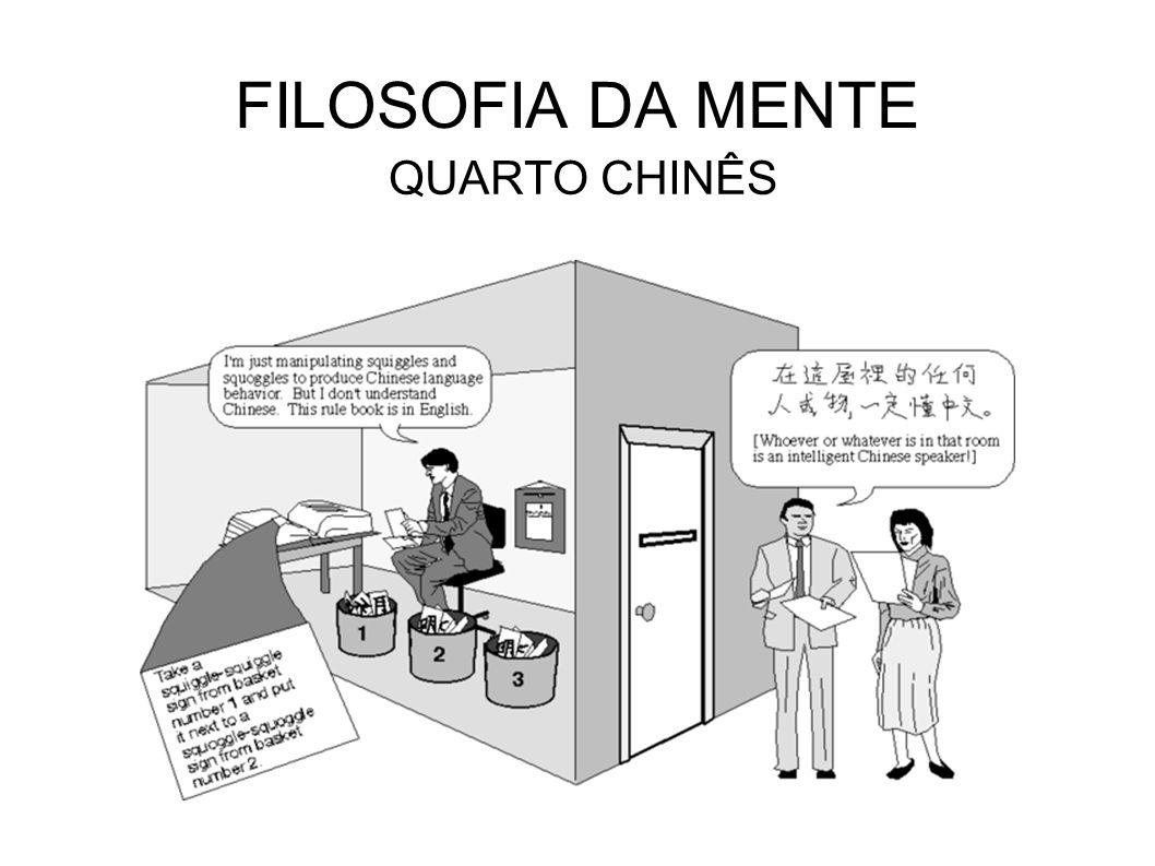 FILOSOFIA DA MENTE QUARTO CHINÊS