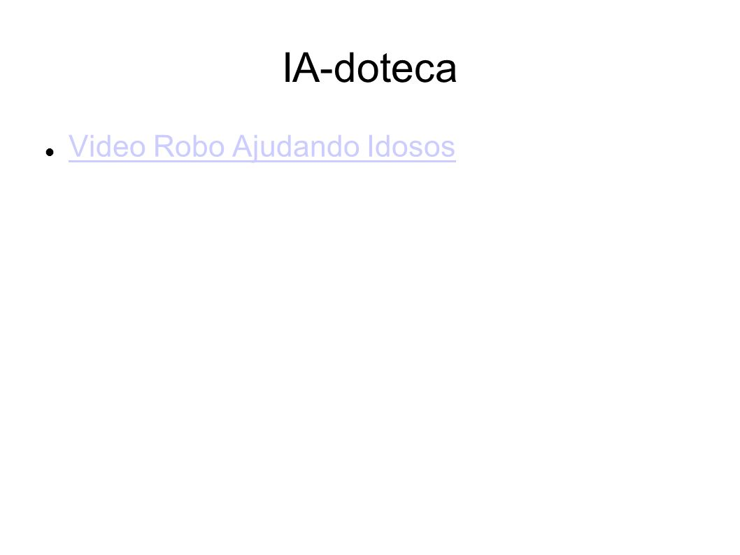 IA-doteca Video Robo Ajudando Idosos