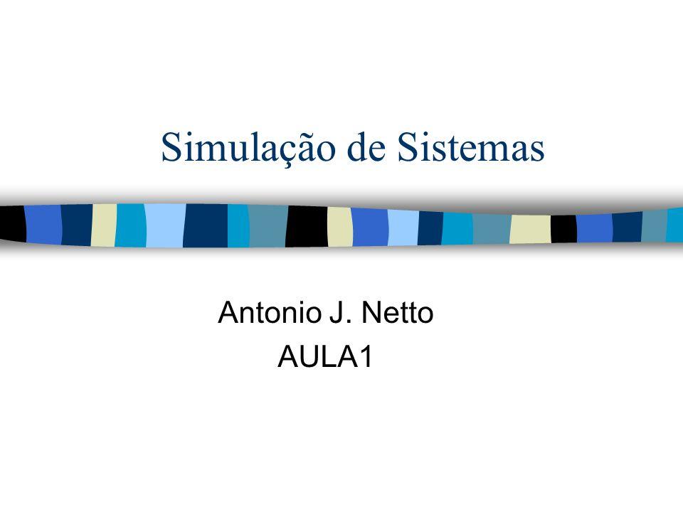 Simulação de Sistemas Antonio J. Netto AULA1