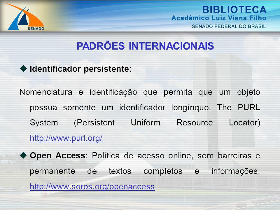 Identificador persistente: Nomenclatura e identificação que permita que um objeto possua somente um identificador longínquo. The PURL System (Persiste