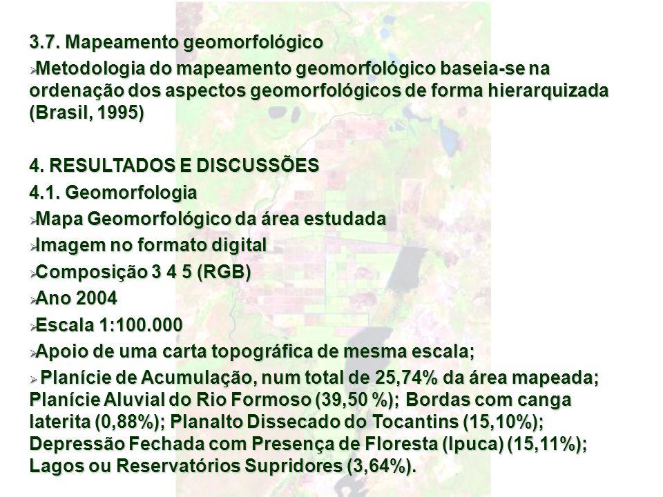 3.7. Mapeamento geomorfológico Metodologia do mapeamento geomorfológico baseia-se na ordenação dos aspectos geomorfológicos de forma hierarquizada (Br