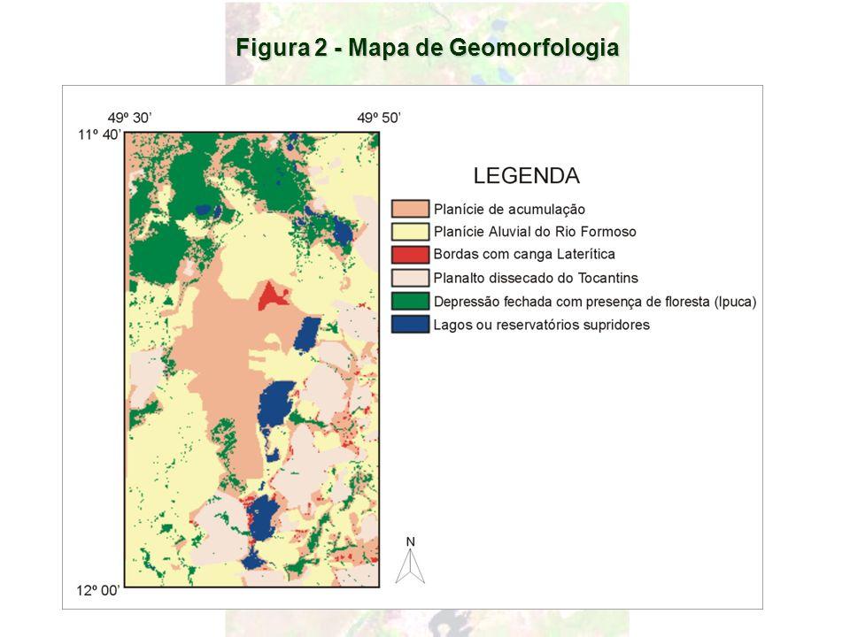 Figura 2 - Mapa de Geomorfologia