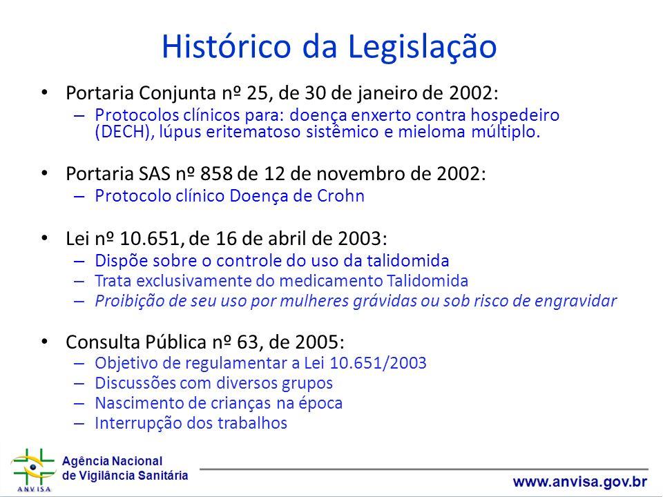 Histórico da Legislação Portaria Conjunta nº 25, de 30 de janeiro de 2002: – Protocolos clínicos para: doença enxerto contra hospedeiro (DECH), lúpus