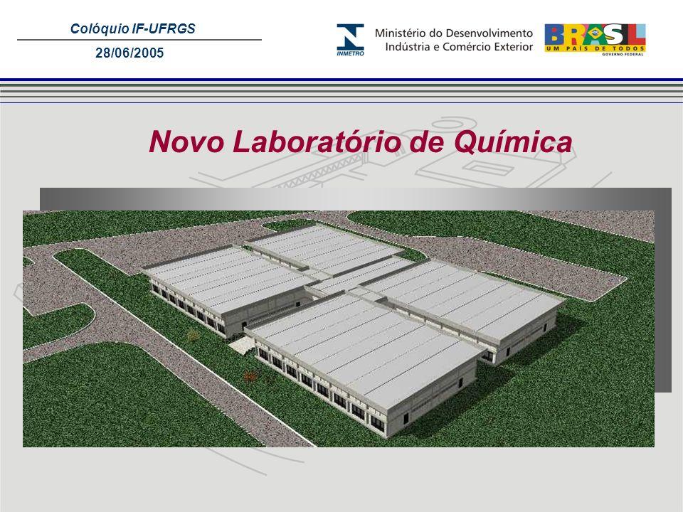 Colóquio IF-UFRGS 28/06/2005 Novo Laboratório de Química