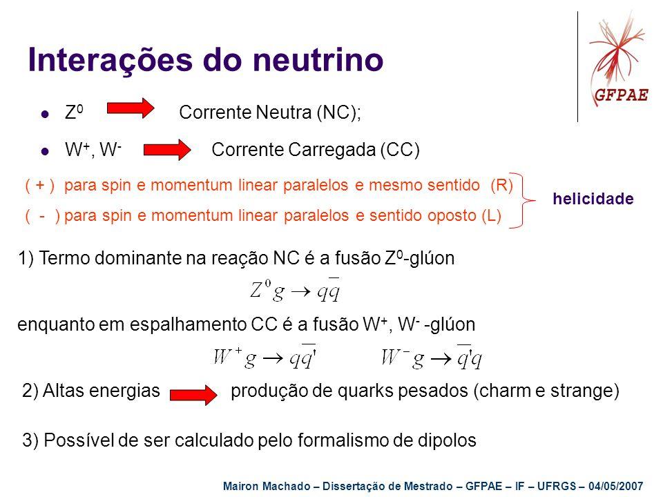 1) Termo dominante na reação NC é a fusão Z 0 -glúon enquanto em espalhamento CC é a fusão W +, W - -glúon 2) Altas energias produção de quarks pesado