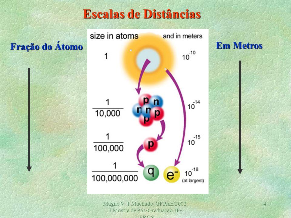 Magno V. T Machado, GFPAE/2002. I Mostra de Pós-Graduação, IF- UFRGS. 3 O que é fundamental ? Prótons e Nêutrons são fundamentais ? Físicos de partícu