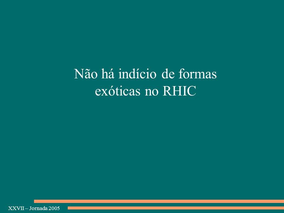 XXVII – Jornada 2005 Não há indício de formas exóticas no RHIC