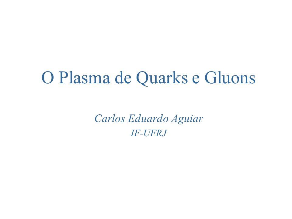 O Plasma de Quarks e Gluons Carlos Eduardo Aguiar IF-UFRJ