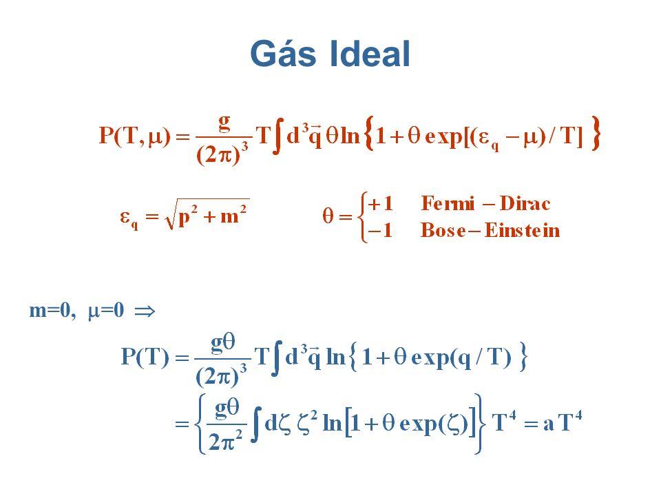 Gás Ideal m=0, =0