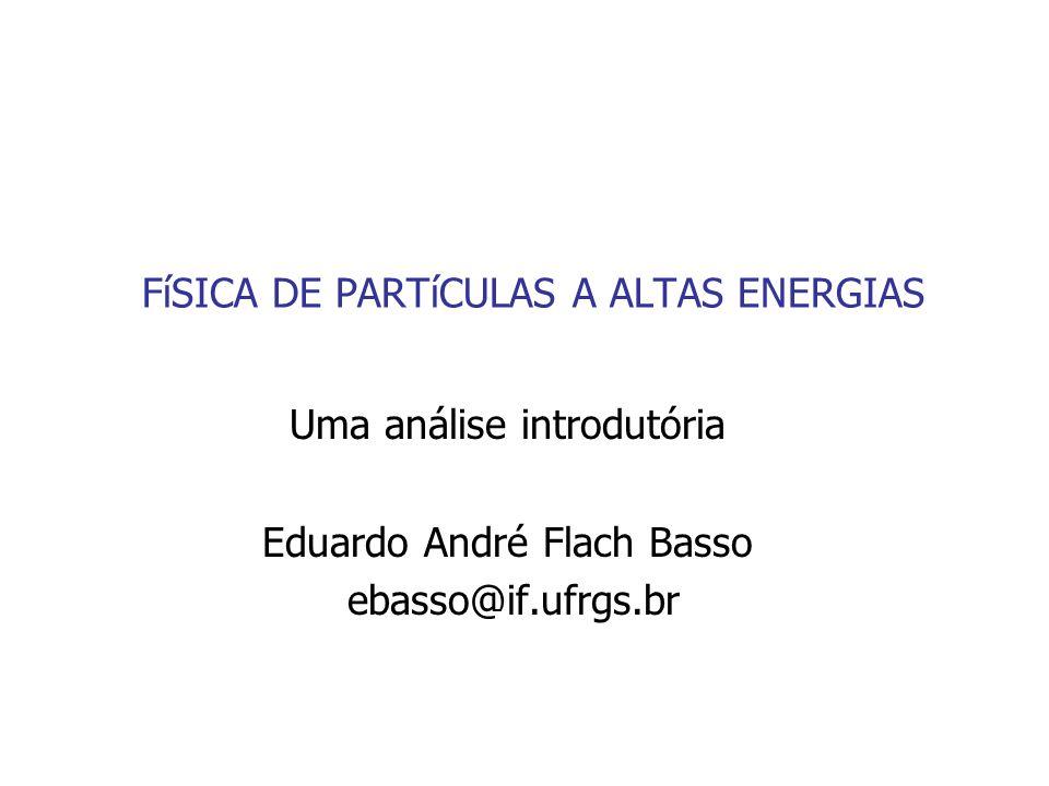 FíSICA DE PARTíCULAS A ALTAS ENERGIAS Uma análise introdutória Eduardo André Flach Basso ebasso@if.ufrgs.br