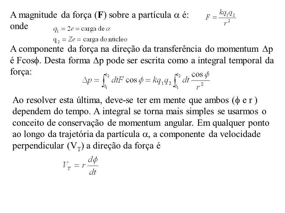 Ao resolver esta última, deve-se ter em mente que ambos ( e r ) dependem do tempo. A integral se torna mais simples se usarmos o conceito de conservaç