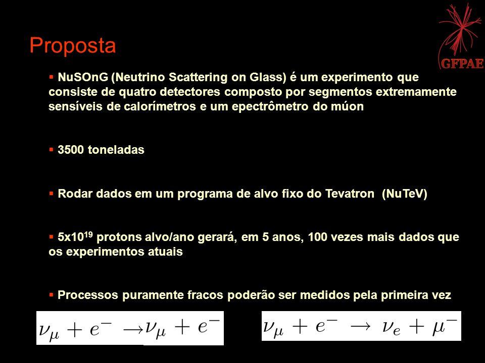 NuSOnG (Neutrino Scattering on Glass) é um experimento que consiste de quatro detectores composto por segmentos extremamente sensíveis de calorímetros