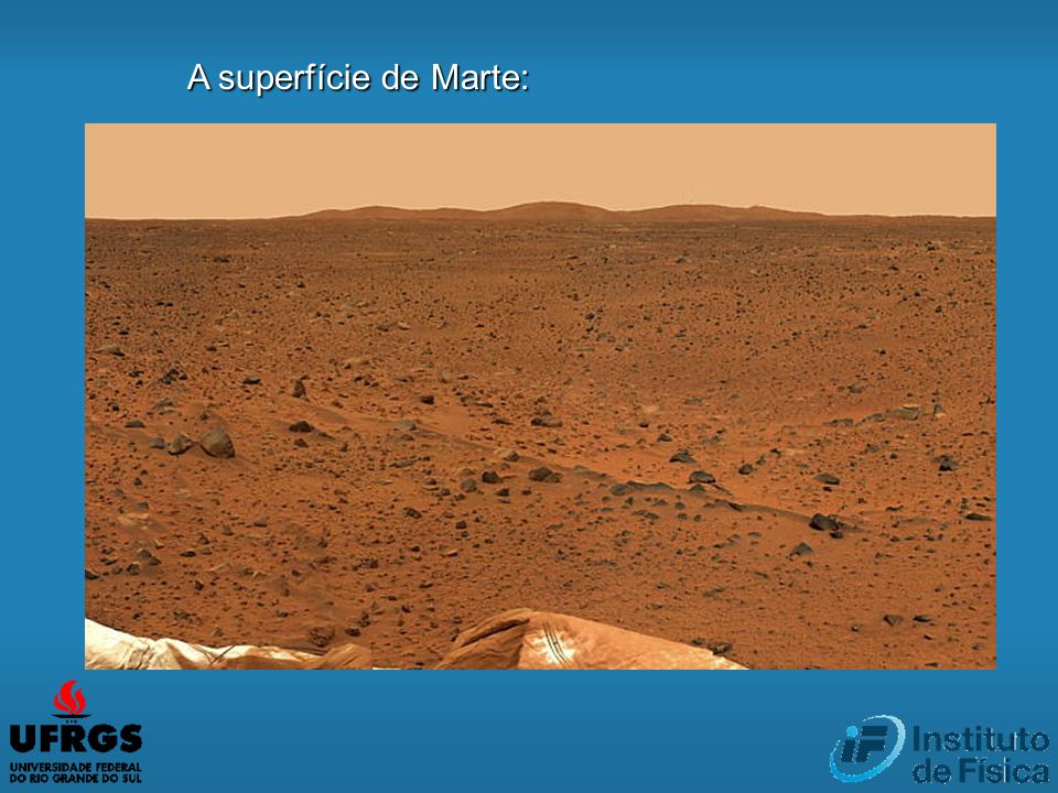 A superfície de Marte: