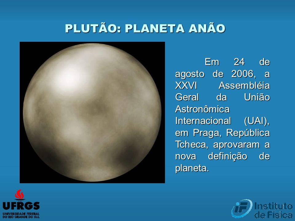 Em 24 de agosto de 2006, a XXVI Assembléia Geral da União Astronômica Internacional (UAI), em Praga, República Tcheca, aprovaram a nova definição de p