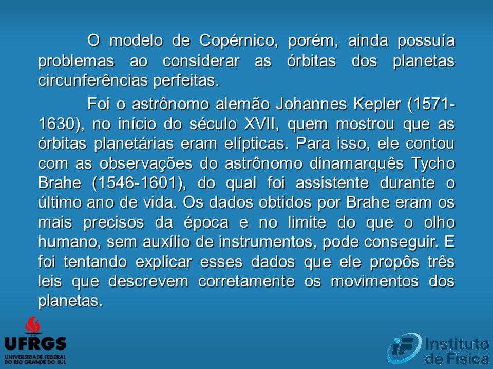 O modelo de Copérnico, porém, ainda possuía problemas ao considerar as órbitas dos planetas circunferências perfeitas. Foi o astrônomo alemão Johannes
