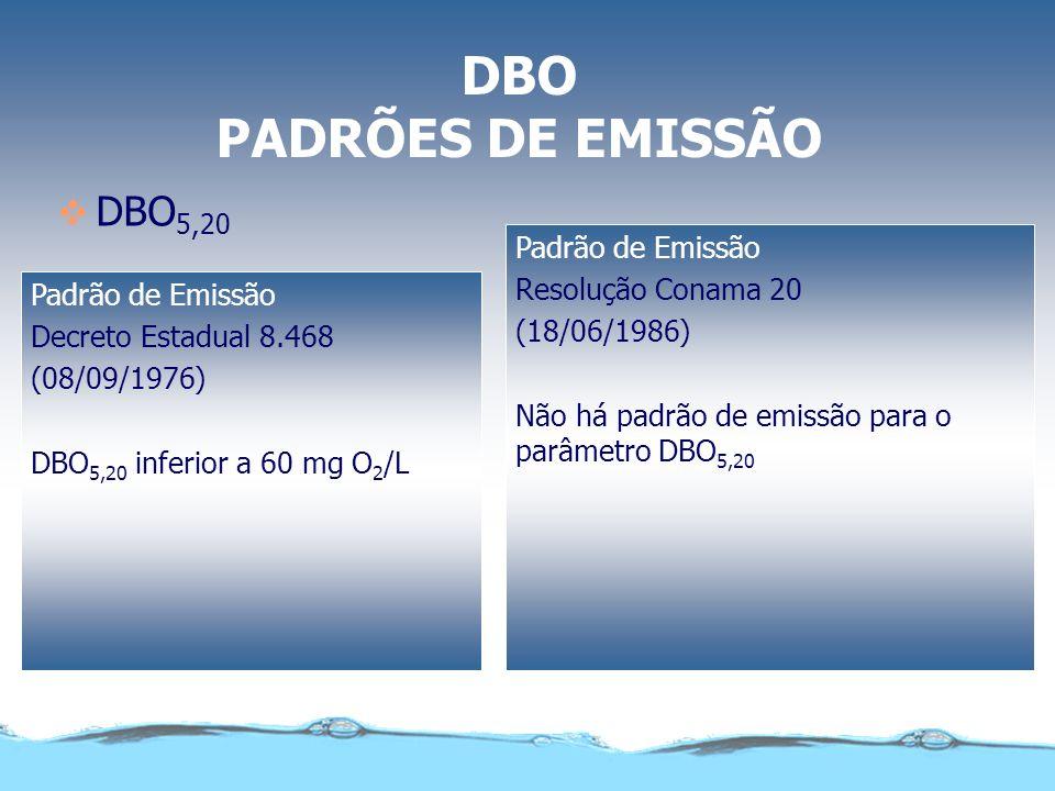 DEMANDA BIOQUÍMICA DE OXIGÊNIO POR EXEMPLO, AS ÁGUAS NATURAIS TÊM DBO DA ORDEM DE 5,0 mg/l O QUE SIGNIFICA ISSO? SIGNIFICA QUE PARA DECOMPOR A MATÉRIA