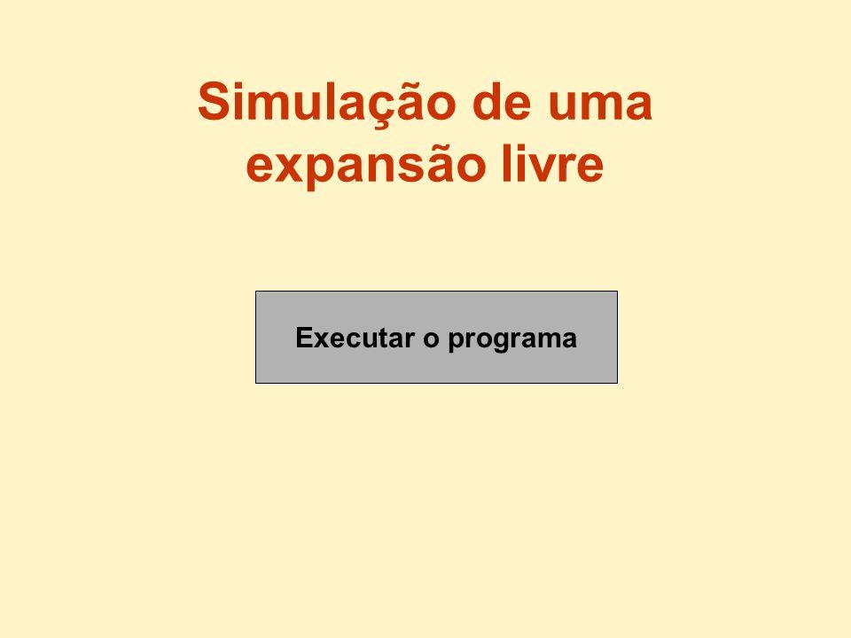 Executar o programa Simulação de uma expansão livre