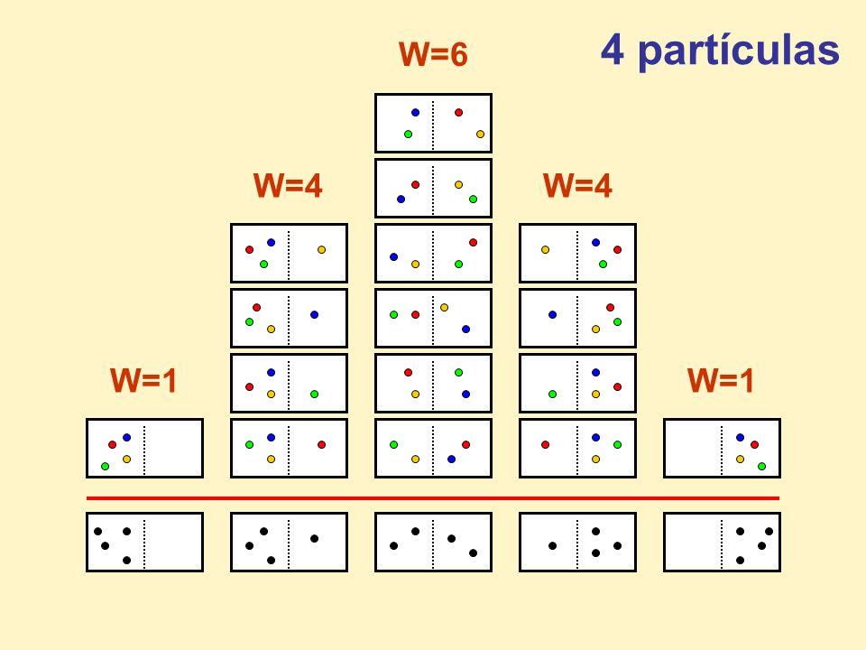 W=4 W=6 4 partículas